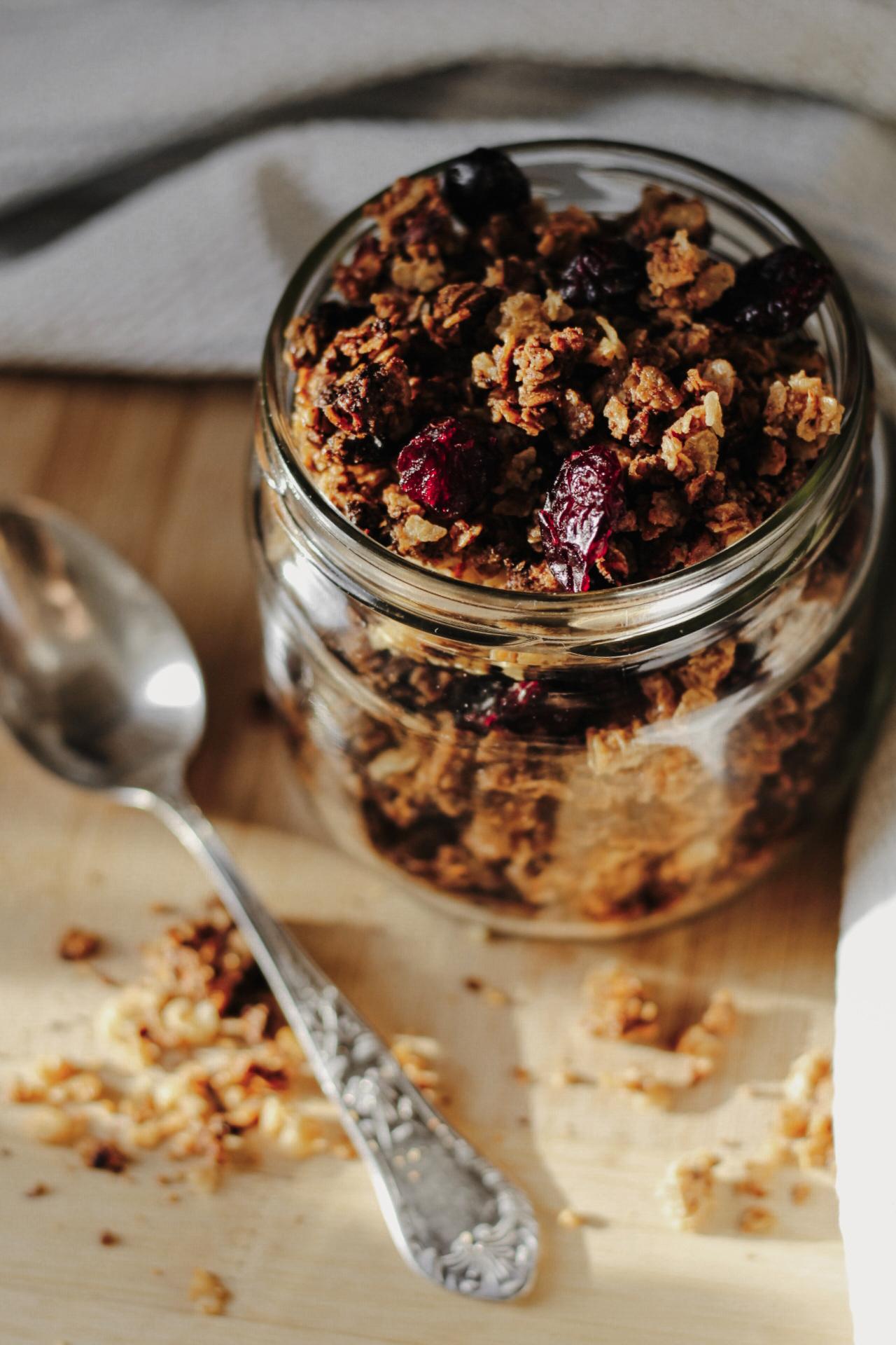 Homemade Gluten Free Granola Jar